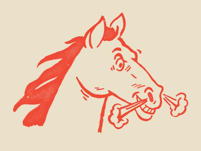 ROUGH RIDER rodeo cowboy western design print screenprint flat branding race horse racing varsity retro color orange mascot vintage logo illustration horse vintage