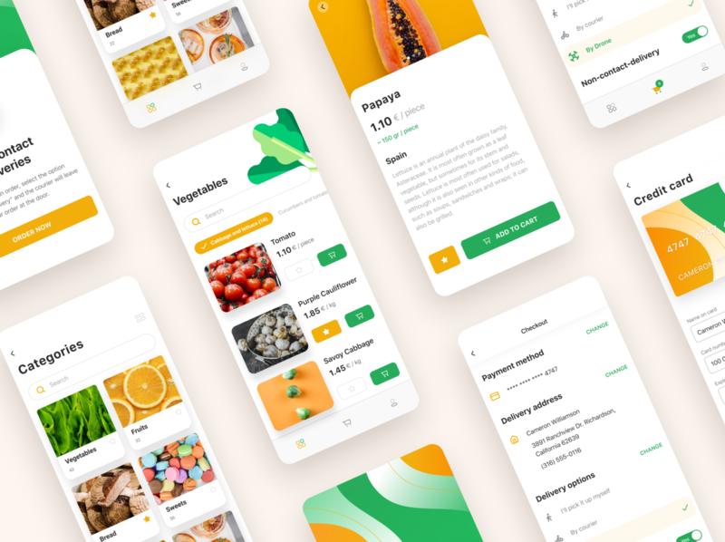 Food Delivery App card delivery ux uxui book ui design ui  ux social app design drapolly ui app