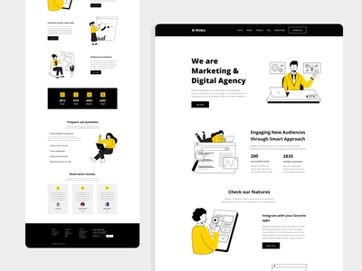 Marketing and Digital Agency- Landing page design agency landing page design creative concept agency website wireframe business uxdesign 2020 trend landing page uiux ui digital agency marketing illustraion