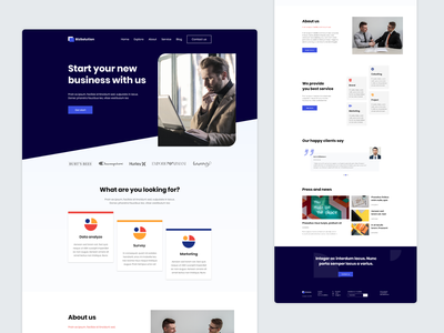 Startup Landing Page branding uidesign web design webdesign web agency website startup business uiux landing page design concept digital agency 2020 trend design agency design illustration creative website agency