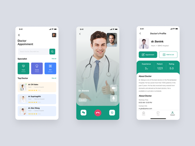 Doctor Appointment App app ui uidesign uiux dailyui mobile app design mobile app mobile ui design branding 2020 trend ui concept doctor app doctor appointment app creative