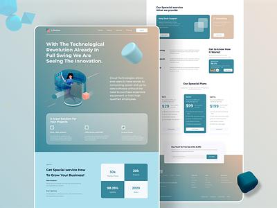 Cloud Technology Service Landing Page technology uiux landing page website design ui