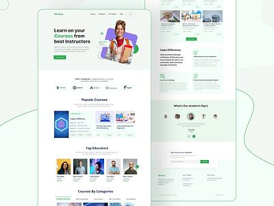 E-Learning Platform Website uiux course education website e-learning ui