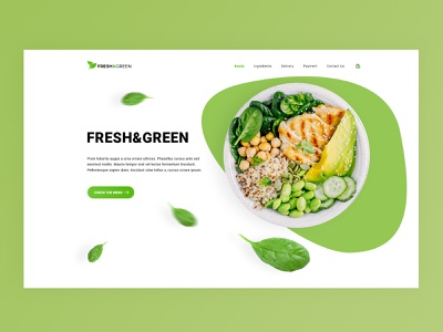 Fresh&Green Restaurant Website website web design webdesign web ux ui design