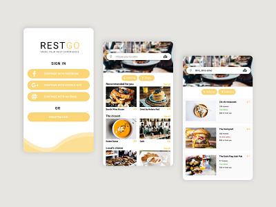 Restaurant Occupancy Mobile App mobile app design design ux ui mobile ui mobile design mobile app mobile