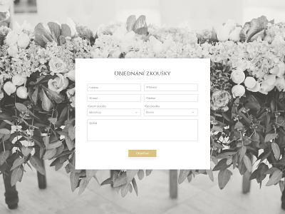 Reservation Form — Wedding Dresses Online Store contact form form wedding website wedding website web design webdesign web ux ui design