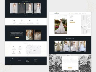 Wedding Website Design e-shop wedding dress interface illustration user interface user experience web page design eshop wedding website landing page landingpage website webdesign web ux ui design web design wedding