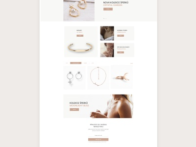 Jewelry online store design online store e-shop userinterface interface website web design webdesign web ui ux design white airy clear simple jewerly jewelry store