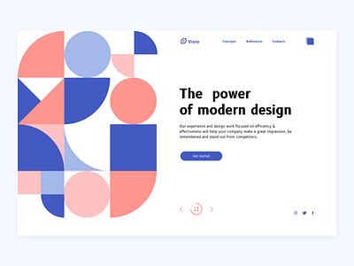 Design Studio Website website concept web concept website design concept illustration geometry interface landingpage e-shop website web design webdesign web ux ui design