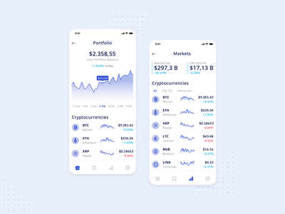 Cryptocurrency Mobile App dashboad currency exchange currency stock investment block chain blockchain crypto exchange crypto currency cryptocurrency crypto wallet crypto finance app finance money app money app design app ux ui