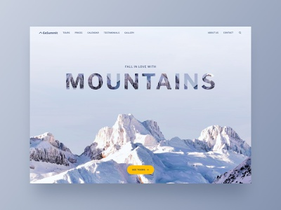 Travel website interface web ux ui website webdesign landing nature travel booking travel guide trip planner outdoor mountains booking travel travel app tourism travel agency travel landing page tours