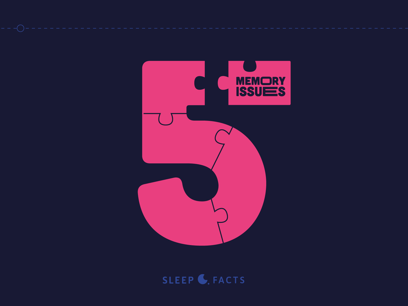 Sleep Facts Infographic 5/5 red design logo ui gif character illustration colors 2d inspiration