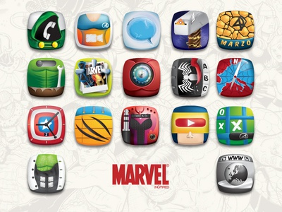 Icon Set // Marvel Inspired
