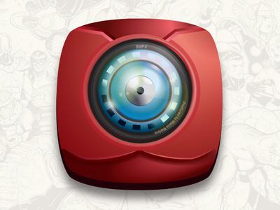 Camera Icon // Iron Man (Marvel Inspired)