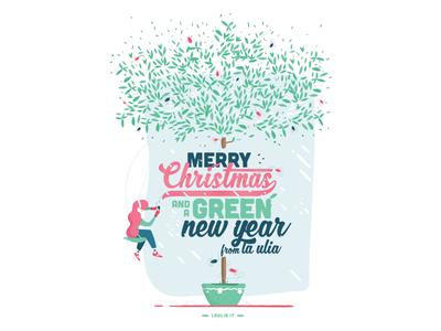 Christmas Postcard (1of2) snow inspiration colors italy bed and breakfast laulia merry christmas christmas xmas postcard