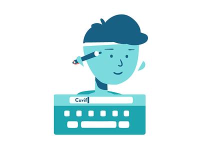 Reader category! character design character loop inspiration flat logo motion graphics blue 2d illustration