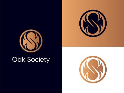 Oak Society - Logo Design letter s classy gold society oak seal circle elegant os premium mark logo illustration design