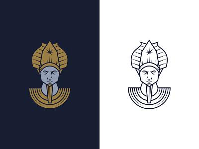 Grower's Guild - Logo Design premium character modern hemp cannabis agriculture god osiris egyptian logo design illustration