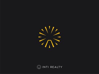 INTI Realty - Logo Design mark sunburst housing home boutique accommodation fireworks real estate agency real estate design logo