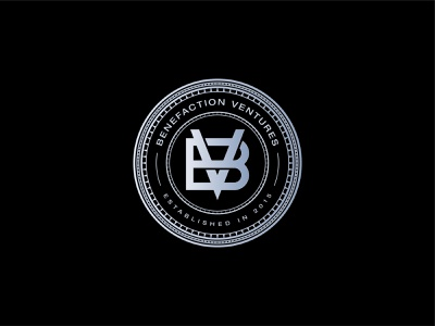 Benefaction Ventures - Logo Design letter vb logo vb bv letterpress monogram emblem modern bv logo letter v letter b exquisite badge seal mark silver premium logo
