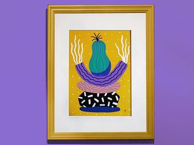 Totem - Pera acrylic painting art illustration