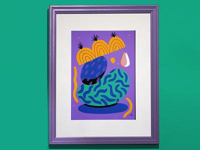 Totem - Gota patterns painting acrylic art illustration