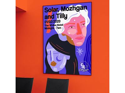 High Hoops - Portraits digital poster art design illustration
