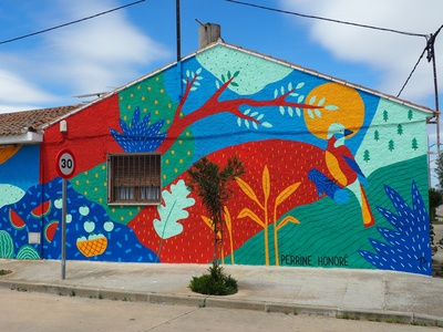ASALTO / Mural street art street wallpainting mural painting acrylic illustration