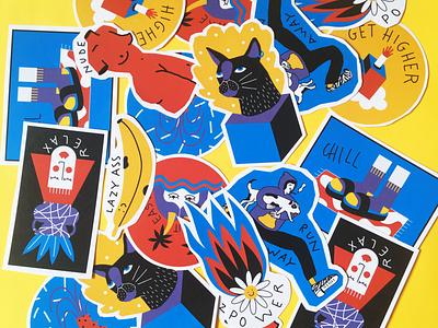 Stickers art digital sitckers design illustration