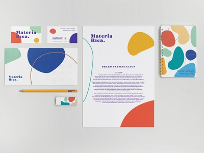 Materia Rica / Branding shapes brand identity brand vector branding design