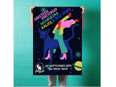 High Hoops - Space poster art design illustration