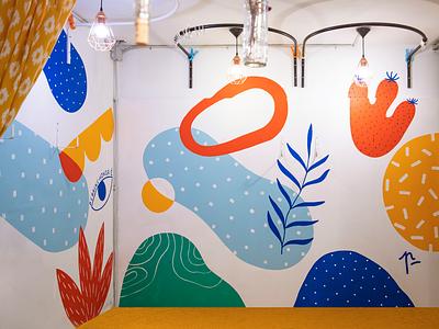 Rollitoasi / Mural wallpainting mural acrylic painting art illustration