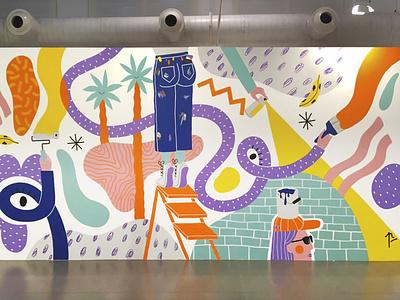 Mural / Arte Urbana exhibition art wallpainting painting acrylic mural illustration