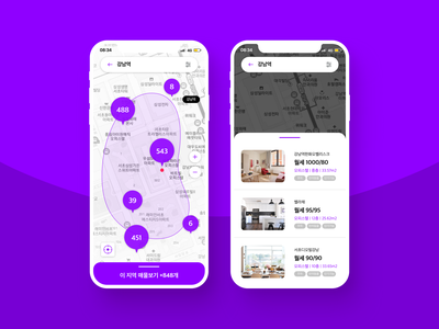 Map location mapping vector purple design realestate map flat dailyuichallenge app ux ui