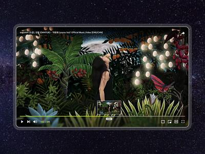 Video Player player music video youtube video webdesign vector design web flat mobile ui ux app dailyuichallenge video player