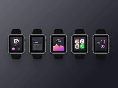 Apple Smart Watch Interface Design watchos watchface watches call walk webdesign applewatch watch ui ux dailyuichallenge