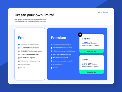 Pricing Page free dailyui vector webdesign design flat web pricing price ux dailyuichallenge