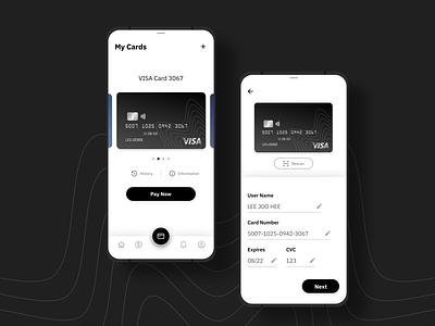 Add New Card finance app finance pay app mobile app credit cards creditcard design dailyuichallenge flat uidesign card uiux ui