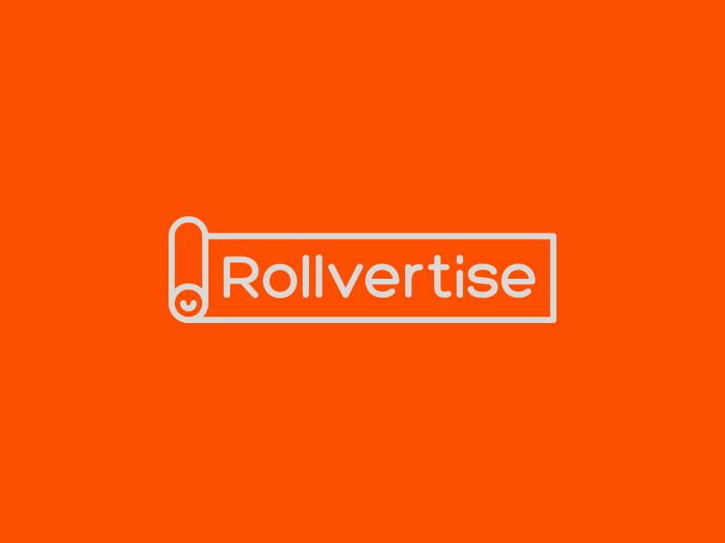 Rollvertise banner advertise roll creative branding logo