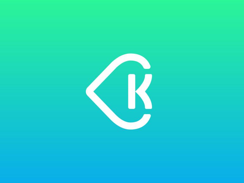 K + Heart branding design identity brand logo mark health care health heart k k logo k letter