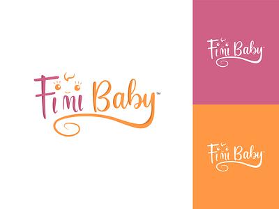 Logo design for Fimibaby illustrator app flat minimal icon typography design illustration logo branding