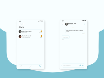 Chat View chat ux uiux app mobile design ui