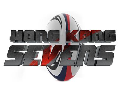 Hong Kong Sevens rugby debut 3d logo branding