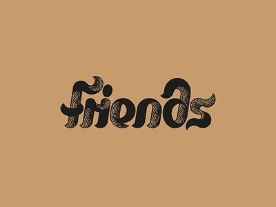 Friends design vector artwork art lettering art friends illustraion font logotype logo letter lettering