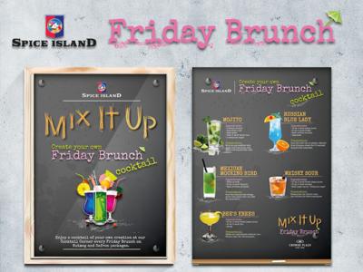 Restaurant Poster poster restaurant cocktails foodie dubai friday brunch