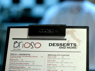 dessert menu brioso desserts eat italian menu design