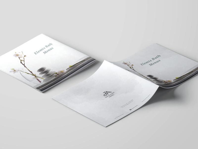 Spa Elemis Treatment brochure dubai design brochure photograhy brochure layout brochure design spa
