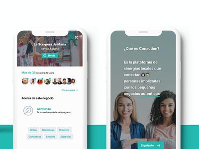 Conaction App case study design thinking case study ui app mobile app ui application