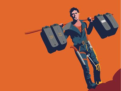 Mad Max 2 illustration movies desert gas max mad max fury road illustration