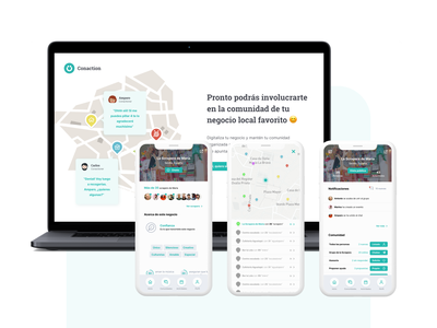 Conaction App Prototype app concept design app ui app mobile application